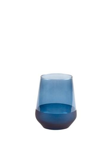 Galeri Kristal Matte Mavi 6'Lı Kısa Bardak 425Cc Mavi